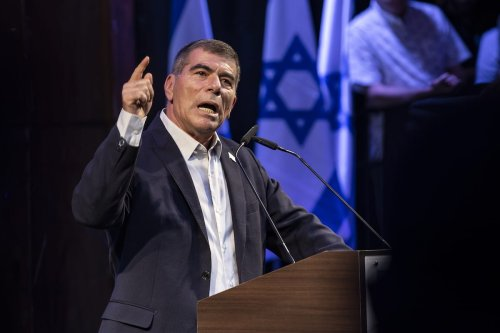 Isreal FM Gabi Ashkenazi in Tel Aviv, on 15 September 2019 [Faiz Abu Rmeleh/Anadolu Agency]