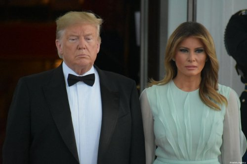 US President Donald Trump (L) and first lady Melania Trump (R) in Washington, DC on 20 September 2019 [Kyle Mazza/Anadolu Agency]