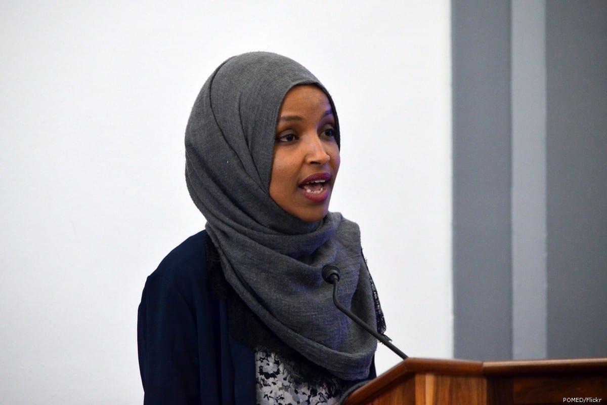 US congresswoman Ilhan Omar in Washington, US on