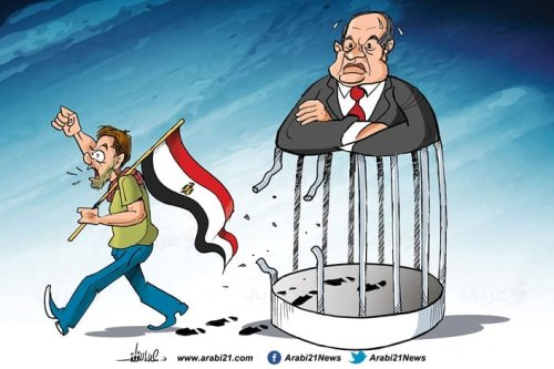 Egypt's protests against Sisi [Cartoon-Arabi21]
