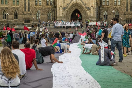 Canadian activists gather in support of Palestine outside the Canadian Parliament, Ottawa, Canada [Tony Webster / Wikimedia]
