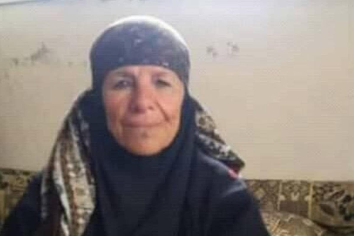 Maryam Al-Shalat, a Syrian women was executed by the Syrian regime militias on 1 September 2019 [Twitter]