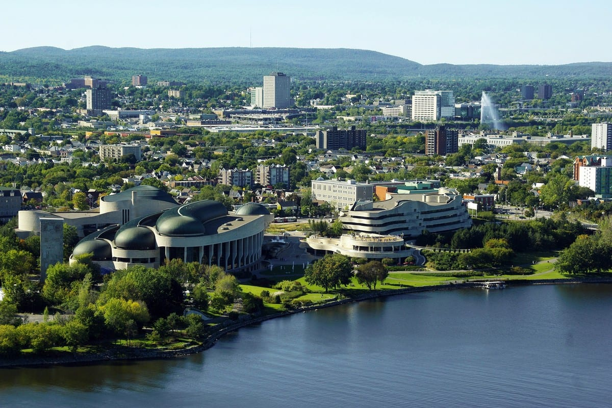 Cityscape and landscape view of Ottawa, Canada