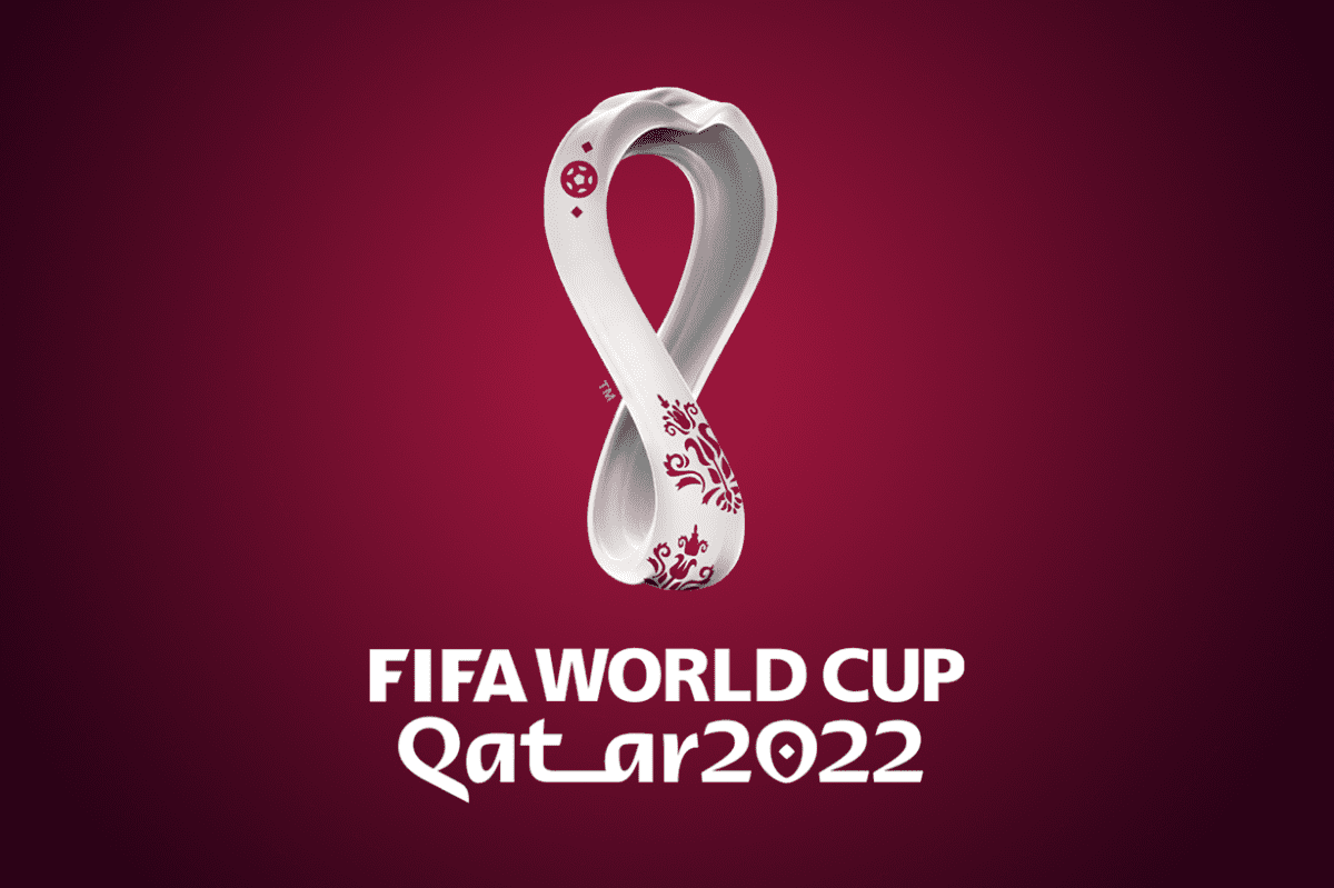 The official emblem of the 2022 World Cup in Qatar
