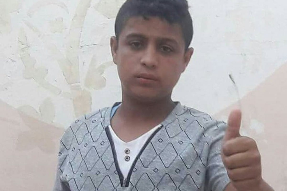 14-year-old Othman Hilles was shot dead by an Israeli soldier during the Great March of Return on 13 July 2018