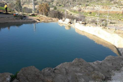 Ein Hanya, a natural spring in southern Jerusalem [Armenian Apostolic Patriarchate of Jerusalem/Facebook]