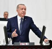 Erdogan announces evacuation of Kurdish fighters from safe zone in northern Syria