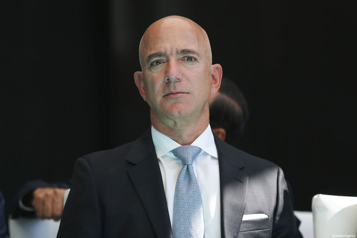 Amazon CEO Jeff Bezos in Istanbul, Turkey on 2 October 2019 [Arif Hüdaverdi Yaman/Anadolu Agency]