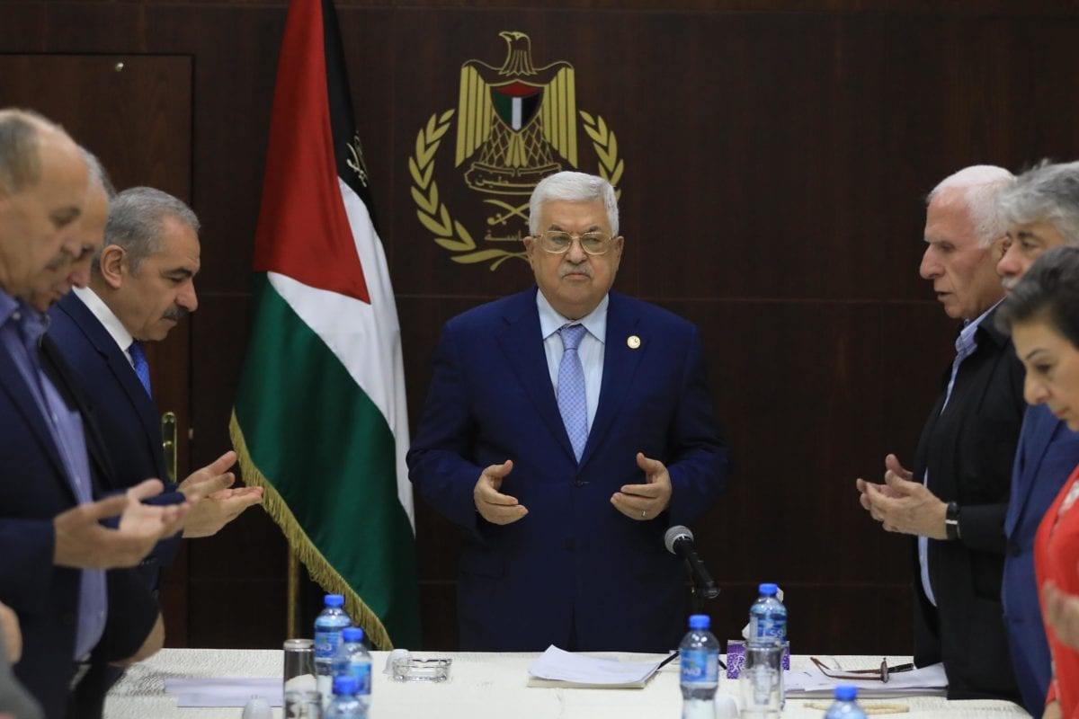 Palestinian President Mahmoud Abbas leads Palestine Liberation Organization board meeting in Ramallah, West Bank on 3 October 2019. [İssam Rimawi - Anadolu Agency]