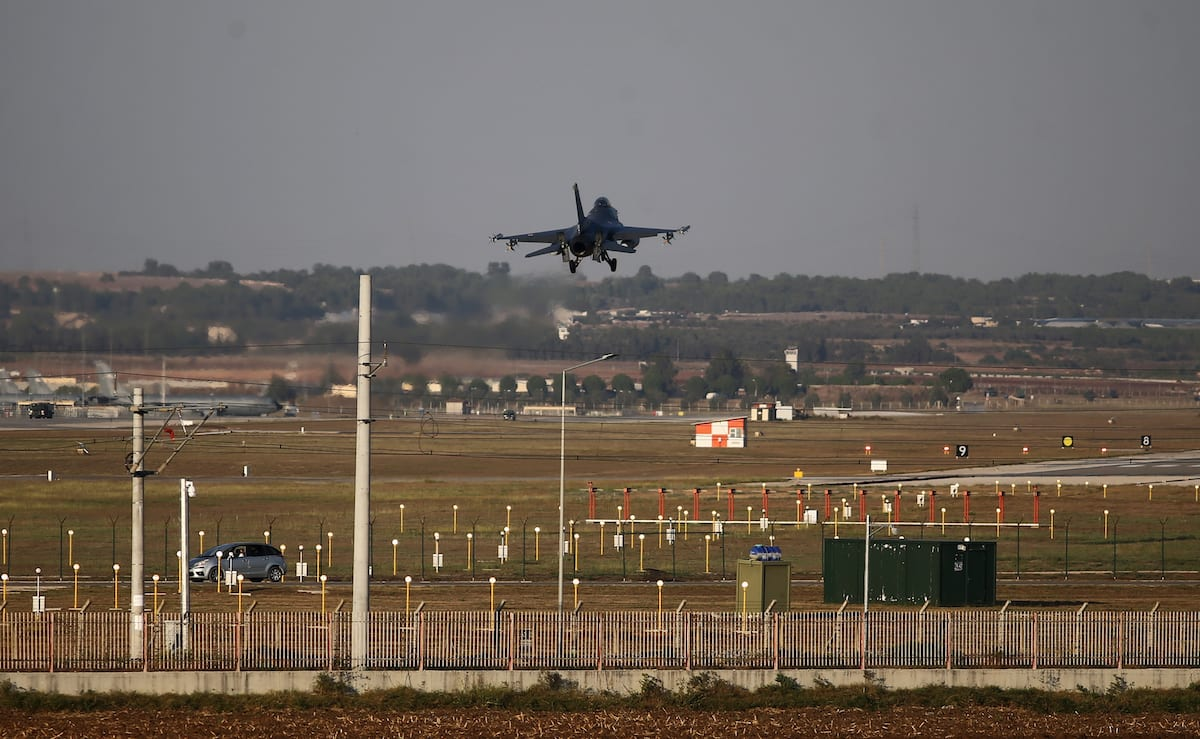 Turkish military aircraft is seen at the Incirlik 10th Tanker Base Command in Saricam district, in Adana as Turkish troops along with the Syrian National Army begin Operation Peace Spring in northern Syria against PKK/YPG, Daesh terrorists, across Akcapinar district of Sanliurfa, Turkey on 9 October 2019. [İbrahim Erikan - Anadolu Agency]