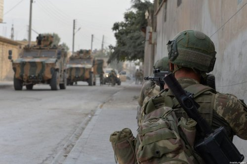 Members of Turkish Armed Forces (TSK) continue operations against Kurdish militia, in Turkey's Operation Peace Spring in Ras Al Ayn, Syria on October 17, 2019 [TURKISH ARMED FORCES / HANDOUT - Anadolu Agency]