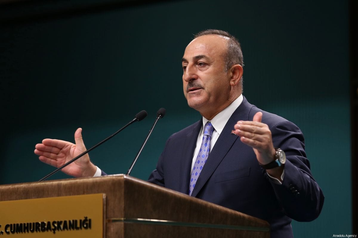Turkish Foreign Minister Mevlut Cavusoglu in Ankara, Turkey on 17 October 2019 [Fatih Aktaş/Anadolu Agency]