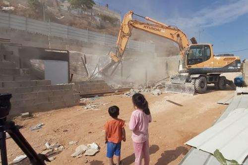 Palestinian forced to demolish his own house to avoid paying occupation forces to do it