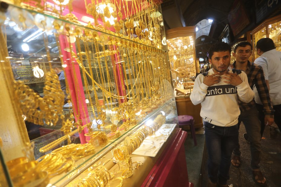 Anyone buying precious metals in Gaza will be getting some stamped by the Precious Metals Department which examines delivers which arrive from abroad and stamp them ready for them to go on sale in local markets [Mohammed Asad/Middle East Monitor]