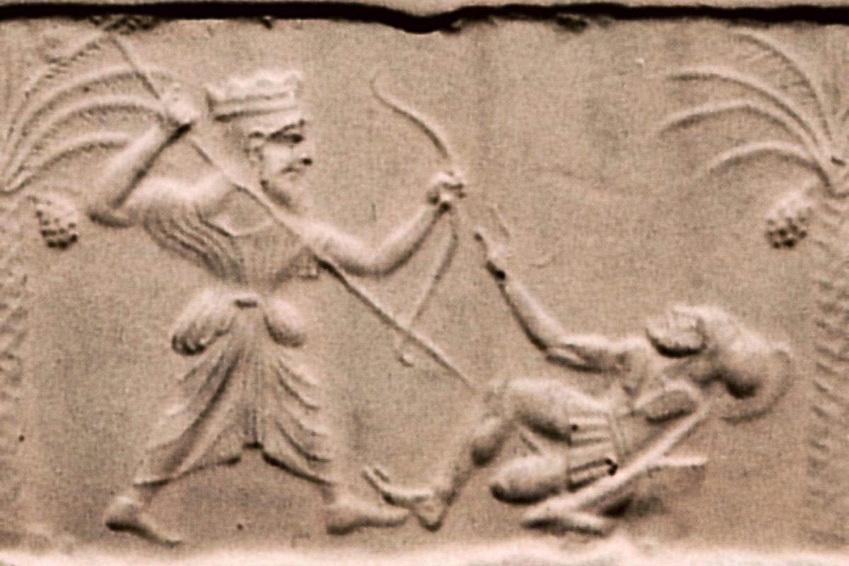 Achaemenid king killing a Greek hoplite [Wikipedia]
