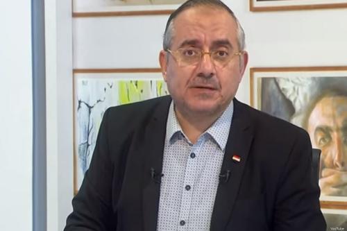 Haitham Abu Khalil, an anchor with the Turkey-based satellite television channel El-Sharq,