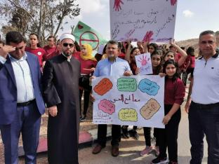 The Arab and Palestinian community in Israel can be seen on strike to protest against the growing violence within the community and the neglect of the Israeli police