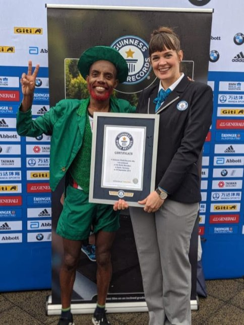 Kamil Suleiman from Cape Town has become a Guinness World Record holder after running the fastest marathon dressed as a leprechaun, all in solidarity with Palestine [Twitter]