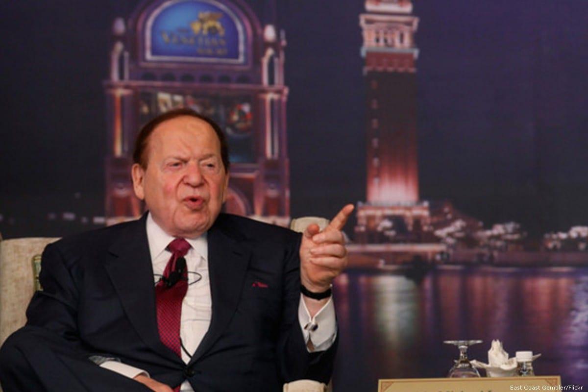 Sheldon Adelson, US business magnate on 20 November 2013 [East Coast Gambler/Flickr]