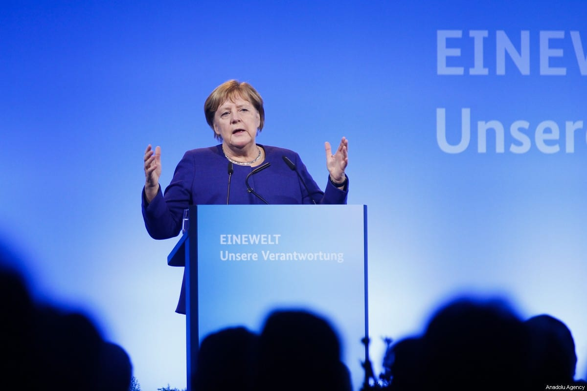 German Chancellor Angela Merkel in Berlin, Germany on 14 November 2019 [Abdülhamid Hoşbaş/Anadolu Agency]