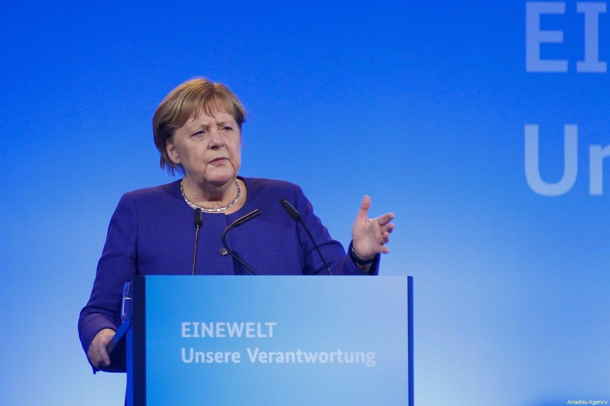 German Chancellor Angela Merkel on November 14, 2019 in Berlin, Germany [Abdülhamid Hoşbaş/Anadolu Agency]