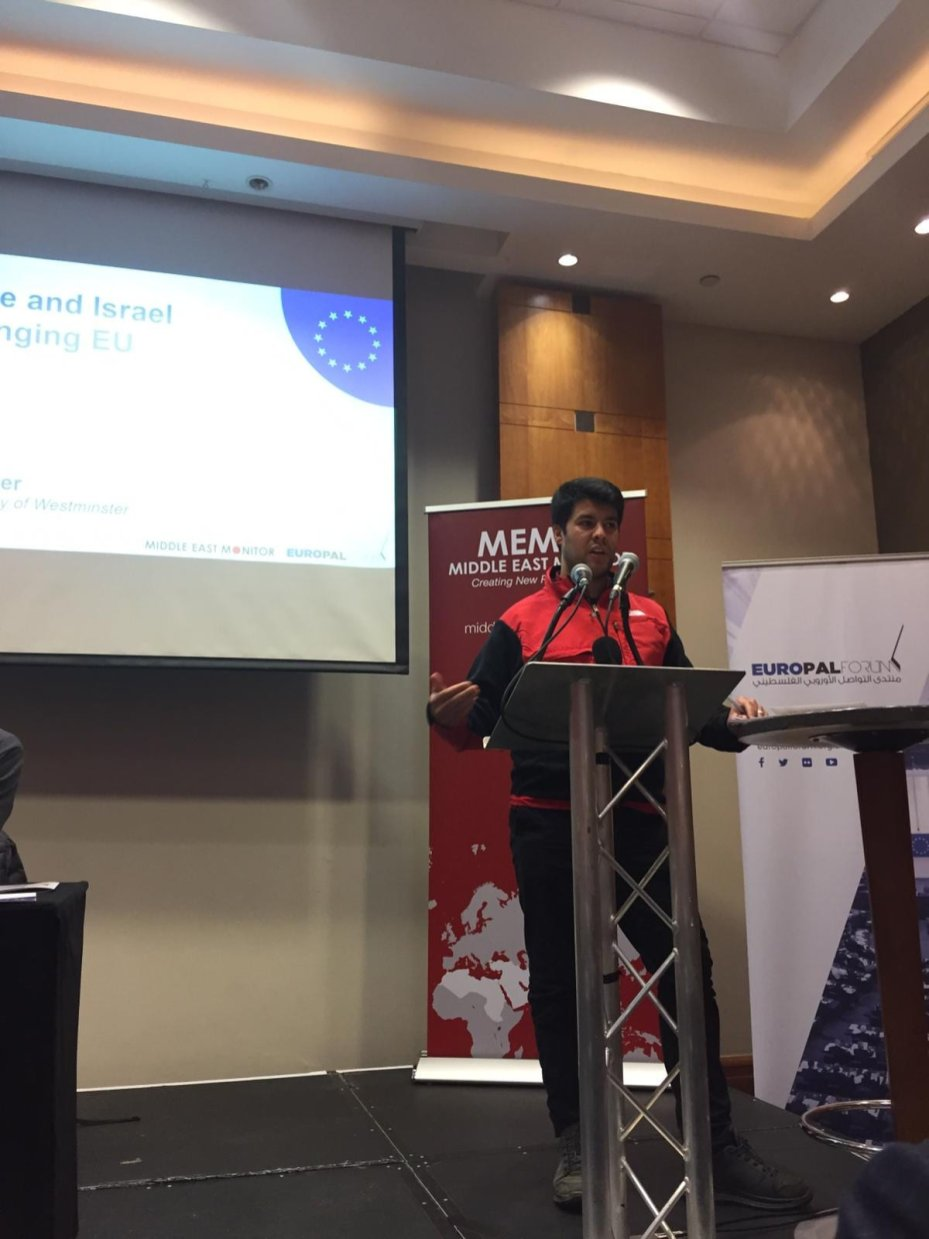 Dr Atef Alshaer at MEMO and EuroPal Forum conference The Palestine Question in Europe on 23 November 2019