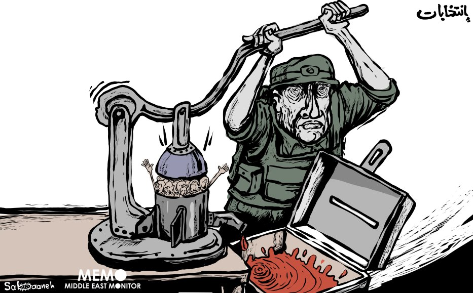 Another attack on Gaza: Israel squeezing the life of Gaza - Cartoon [Sabaaneh/MiddleEastMonitor]