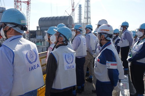 IAEA experts seen during the inspection of a nuclear reactor site at Japan's Fukushima on 7 November 2018 [J. Donovan/IAEA]
