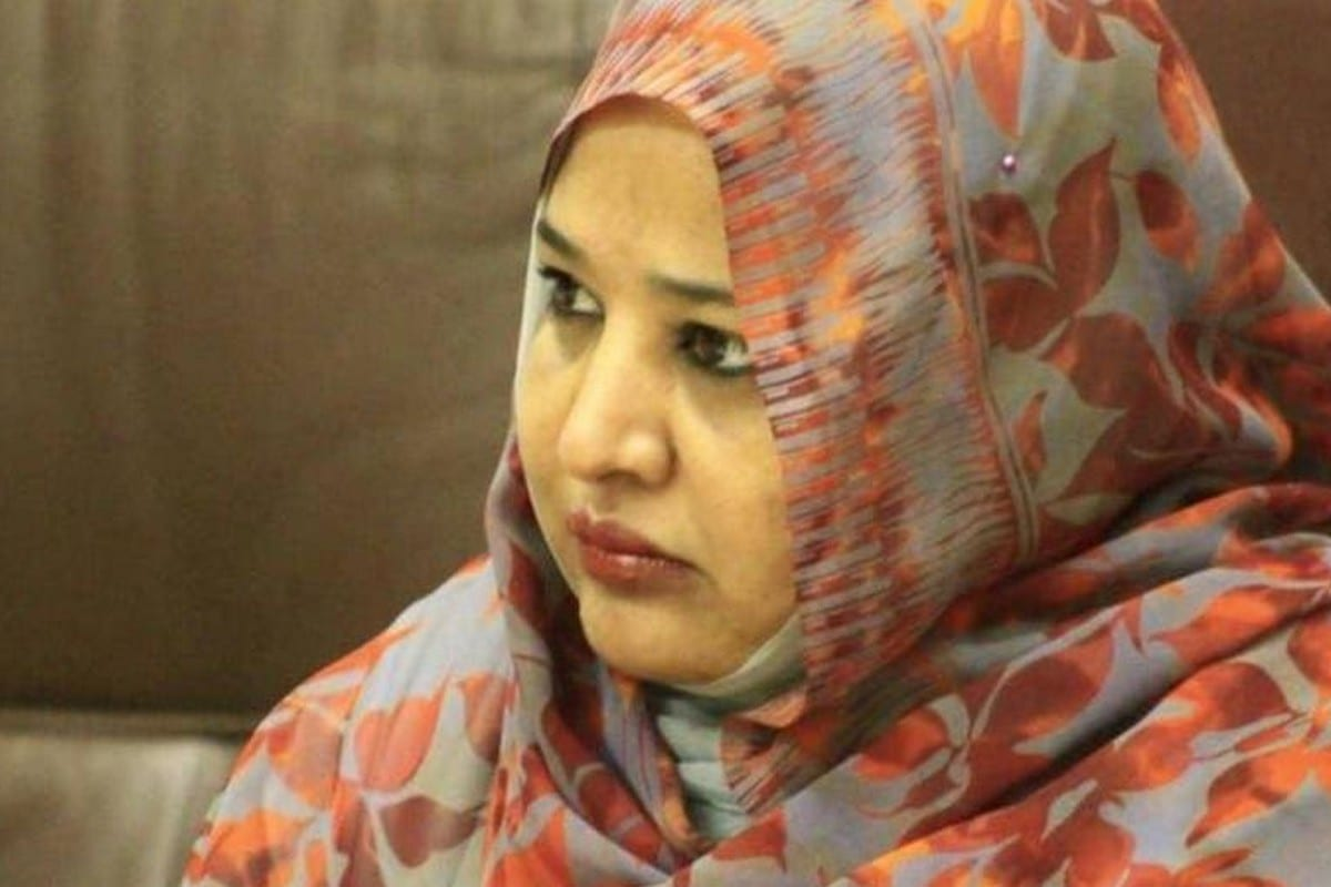 Widad Babiker, the wife of Sudan's ousted president, Omar Al-Bashir,