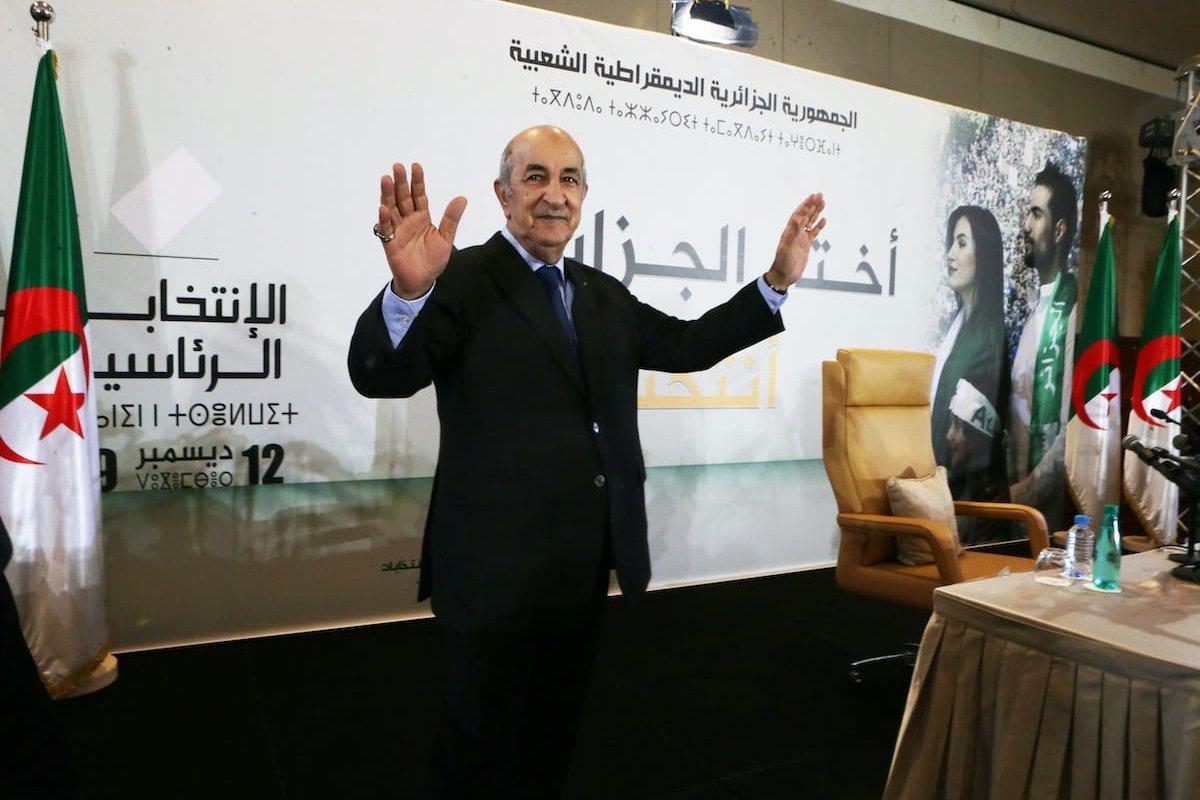 Newly Elected President of Algeria Abdelmadjid Tebboune holds a press conference in Algiers, Algeria on 13 December 2019. [Farouk Batiche - Anadolu Agency]