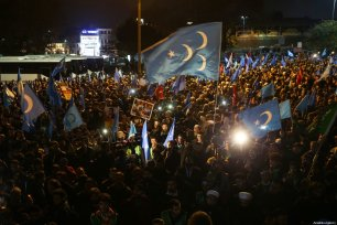 Thousands take part in a 'silent scream' demonstration against China's persecution of Uighurs in Xinjiang, at Fatih Mosque on December 20, 2019 in Istanbul, Turkey [İslam Yakut / Anadolu Agency]