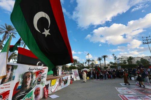 People attend a demonstration against Khalifa Haftar in Tripoli on 27 December 2019 [Hazem Turkia/Anadolu Agency]