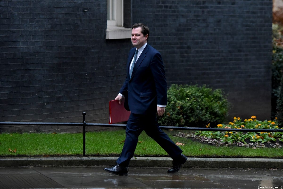 Secretary of State for Housing, Communities and Local Government Robert Jenrick arrives at 10 Downing Street on December 17, 2019 in London, United Kingdom. British Prime Minister Boris Johnson is holding the first Cabinet meeting since winning a majority of 80 seats in the General Election last week [Kate Green - Anadolu Agency]