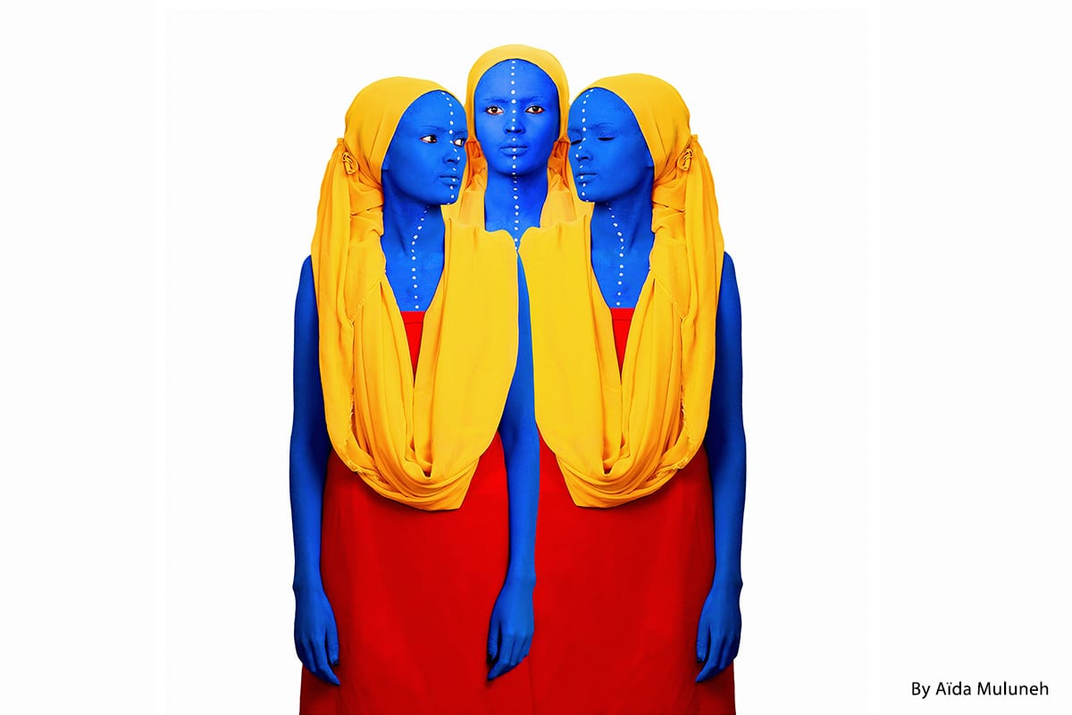"Photographer Aida Muluneh's ""The past, the present and the future"" [Courtesy of Aida Muluneh Studio]"