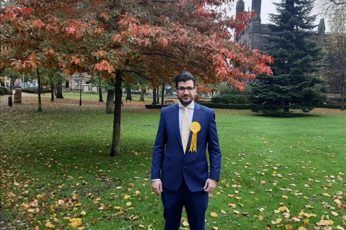 Ali Avaei, member of the Liberal Democrats in Manchester on 22 November 2019 [Ali4Castle/Twitter]