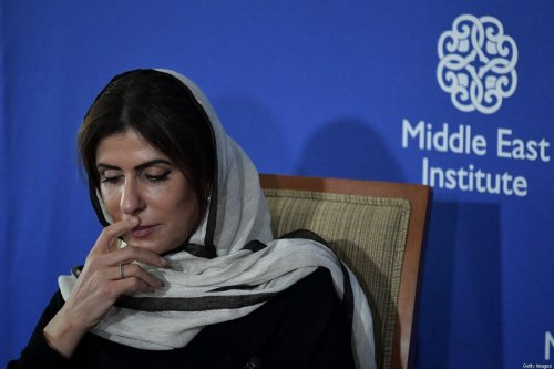 Saudi Princess Basmah Bint Saud Bin Abdulaziz speaks during a discussion on the role of women in the Middle East at the Middle East Institute in Washington, DC on 12 April 2017. [MANDEL NGAN/AFP via Getty Images]