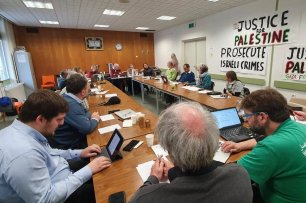 International Coalition of the Freedom Flotilla meeting in the Dutch city of Rotterdam on 1 December 2019