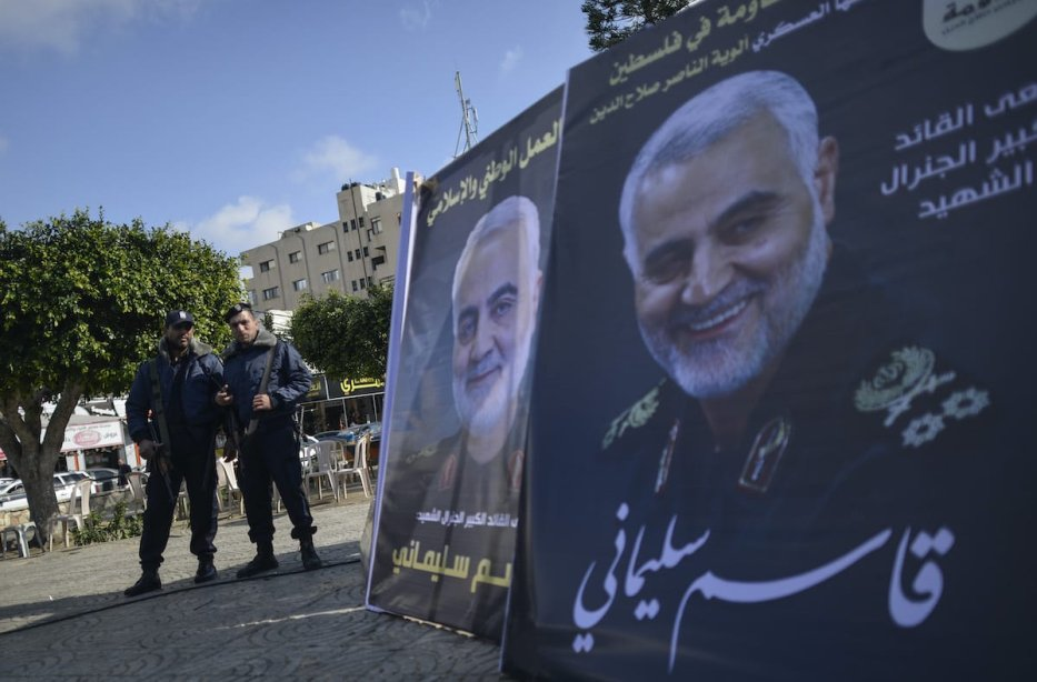 Palestinians mourn Soleimani's death in Gaza city, on 4 January 2020 [Anadolu Agency]