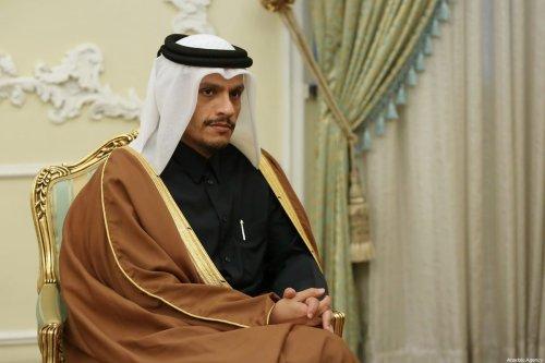 Qatari Foreign Minister Mohammed bin Abdulrahman bin Jassim Al Thani in Tehran, Iran on 4 January 2020. [Iranian Presidency / Handout - Anadolu Agency]