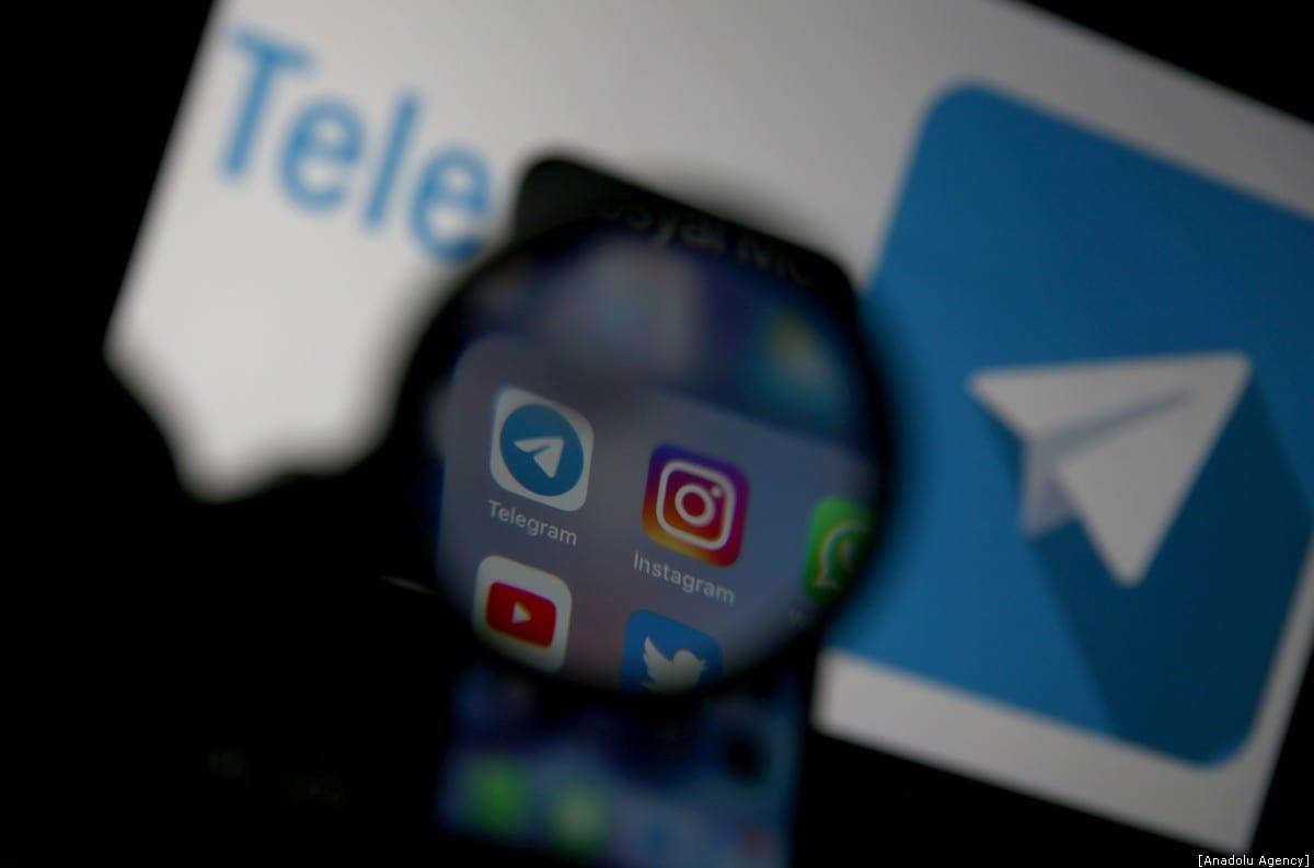 Logos of Telegram, Instagram, YouTube and Twitter are seen in Ankara, Turkey on January 12, 2020 [Raşit Aydoğan - Anadolu Agency]