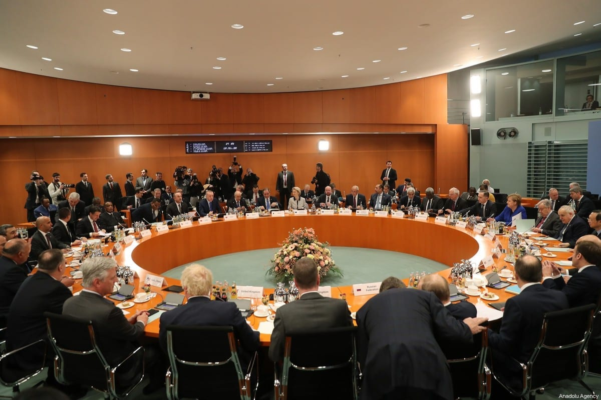 A general view is seen during the Berlin Conference on Libyan peace in Berlin, Germany on 19 January 2020. [Turkish Presidency / Murat Cetinmuhurdar - Anadolu Agency]