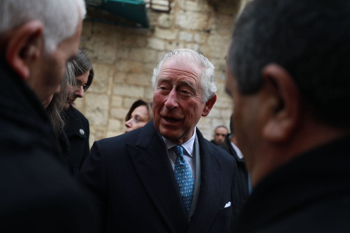 Prince of Wales Charles visits Bethlehem, West Bank on 24 January 2020 [Issam Rimawi/Anadolu Agency]