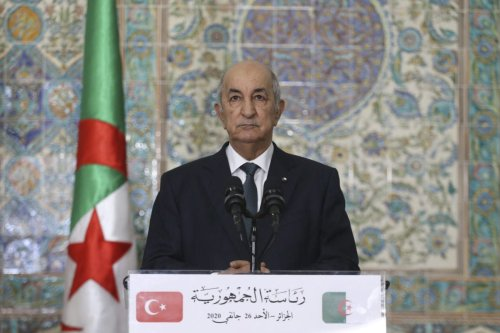 Algerian President Abdelmadjid Tebboune in Algiers, Algeria on 26 January 2020. [Erçin Top - Anadolu Agency]
