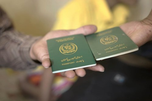 Pakistani passports, 3 November 2018 [AIDAN JONES/AFP via Getty Images]