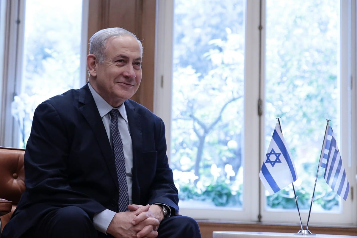 Prime Minister of Israel Benjamin Netanyahu in Athens, Greece on 2 January 2020 [Yiannis Liakos/Anadolu Agency]
