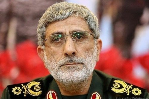 Ismail Qaani has been appointed as commander of the Iranian Revolutionary Guards' Quds Forces on 3 January 2020 in Tehran, Iran [Iranian Leader Press Office/Anadolu Agency]