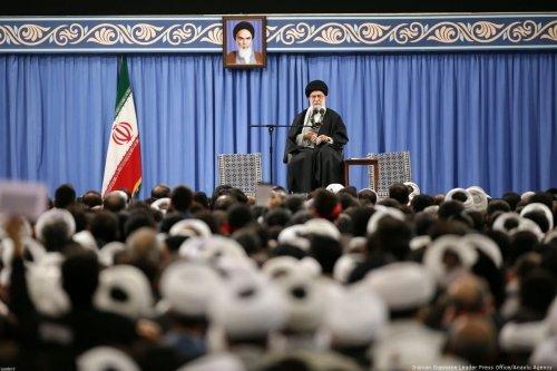 Iranian Supreme Leader Ayatollah Ali Khamenei in Tehran, Iran on 8 January 2020 [Iranian Supreme Leader Press Office/Anadolu Agency]