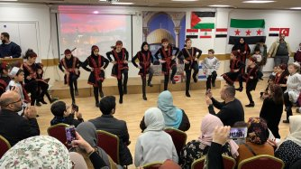The Arab community came together in support of Jerusalem and Middle Eastern societies which have been witnessing hardships over the past decade in London on 4 January 2020 [Palestinian Forum in Britain]