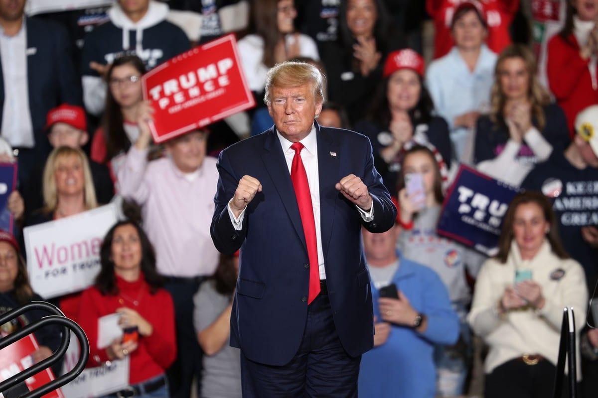 US President Donald Trump in New Jersey, US on 28 January 2020 [Tayfun Coşkun/Anadolu Agency]