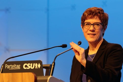 German Defence Minister Annegret Kramp-Karrenbauer